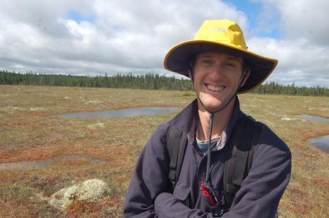 On fieldwork in eastern Canada.