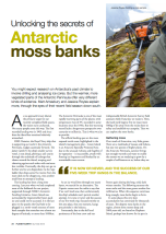 'Unlocking the secrets of Antarctic moss banks' by Matt Amesbury and Jessica Royles
