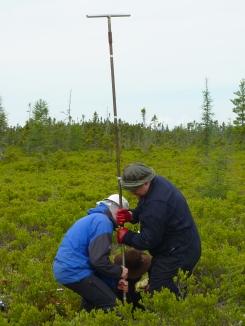 Coring in action in Nova Scotia, Canada