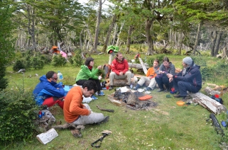 Multinational fieldwork in Patagonia
