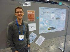 Matt presenting his poster at AGU in San Francisco.