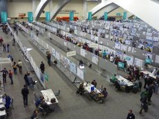 An AGU poster session in San Francisco.