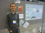 Me and my poster at the AGU