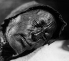 B - Bog bodies, this one is called Tollund Man (Image from Wikimedia Commons)