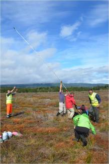 Coring in action in Patagonia