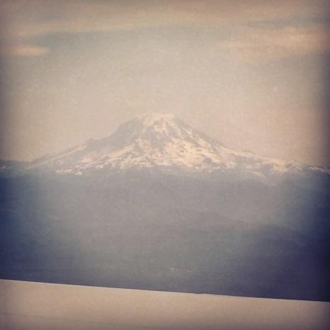 Mt Hood, towering over Portland, Oregon.