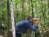 Levelling our survey transect